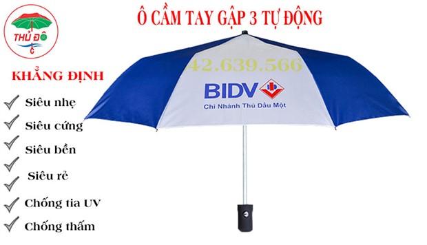Ô cầm tay gấp 3 in logo BIDV